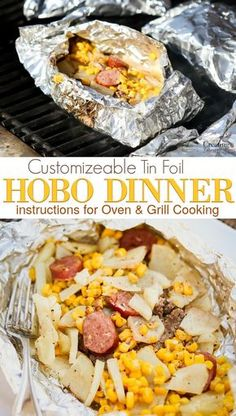 Create an easy tin foil family dinner recipes to please everyone! Customize your Hobo Dinner with hamburger, spiced beef sausage, potatoes and vegetables of your choice. Including directions to cook i (Beef Sausage Recipes) Tin Foil Dinners, Foil Packet Dinners, Foil Pack Meals, Grilling Recipes, Cooking Recipes, Recipes For The Grill, Cooking Ideas, Grill Meals, Beef Meals