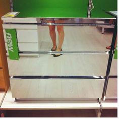 Ikea..what?? They had mirrored dresses/night stands! In love!!