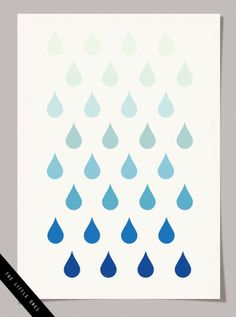 Best Free Printables For Your Walls - Ombre Raindrops Print - Free Prints for Wall Art and Picture to Print for Home and Bedroom Decor - Crafts to Make and Sell With Ideas for the Home, Organization - Quotes for Bedroom, Living Room and Kitchens, Vintage Bathroom Pictures - Downloadable Printable for Kids - DIY and Crafts by DIY JOY http://diyjoy.com/free-printables-walls