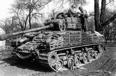 War History Online — An upgraded M4 Sherman with added and crated...
