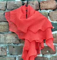 Red Linen Scarf Shawl Wrap Stole Light by Initasworks on Etsy, $69.00