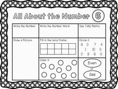 Daily 3 Math Stations - Math by Myself - Unit 1: #0-10 -all about the number worksheets