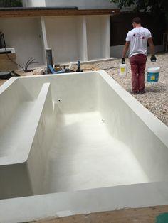 #piscina en microcemento en #Aravaca #Madrid  http://espatulado.com