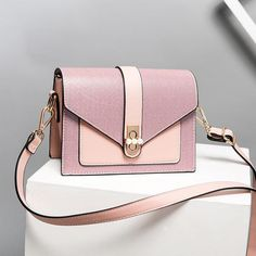 f695a94b32cb Baby Pink and Blush Small Flap Over Envelope Crossbody Purse Pink Clutch