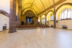 Church refurbishment and renovation featuring wood floor tiles Solus Ceramics. In Scotlan