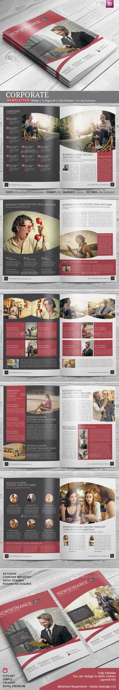 Having the RITE newsletter template is very crucial for a business to market its service. Business or professionals often advertis Company Newsletter, Newsletter Design, Newsletter Ideas, Newsletter Template Free, Business Newsletter Templates, Indesign Templates, Print Templates, Cover Design, 3d Design