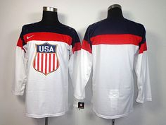 2014 Sochi Winter Olympic Team USA Blank White Jersey