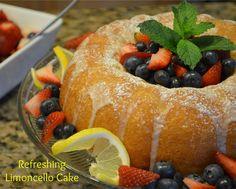 I used my own homemade cream of limoncello in this recipe.  Very refreshing summer dessert, especially when served with fresh berries!