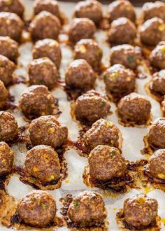 These Sweet and Spicy Korean Meatballs will change your life. They're made with lean beef, flavored with garlic and Sriracha, baked, no frying and glazed with a spicy apricot glaze. #korean #meatballs Stuffing Balls Recipe, Sweet And Spicy, Finger Foods, Fries, Appetizers, Korean, Cooking Recipes, Beef, Snacks
