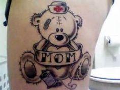 Color Gallery  Mom Teddy Bear Tattoo Vintage Ink Tattoos Inc