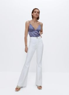 Blusas y camisas de mujer | Uterqüe primavera-verano 2021 Spaghetti Tops, Suits, Denim, Fashion, Vestidos, Pants, Lavender, Spring Summer, Over Knee Socks