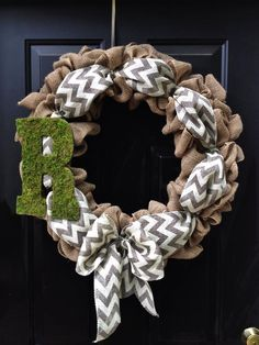 spring wreath without letter and add something else for color.