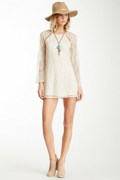 Lucca Couture Lace Cutout Shift Dress by Non Specific on @HauteLook