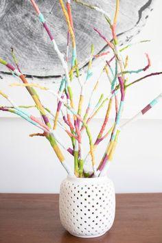 Basteln mit Ästen und Zweigen -tischdeko-selber-machen-frühling
