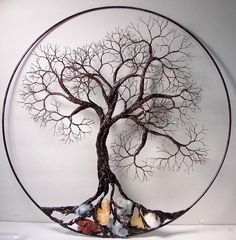 Wire Tree Of Life. Ancient spirit sculpture by CrowsFeathers