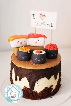 Event Ideas, Party Ideas, Sushi Cake, Birthday Parties, Birthday Cake, Fondant Cakes, Carrie, Cake Ideas, Cupcakes
