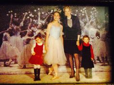 Paige Hall Bluhdorn with my daughters Audrey & Anna. Nutcracker