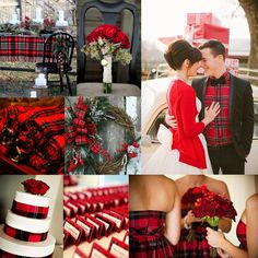 I love the traditional and classic vibe this palette has.  And what a super modern touch to have the groom in a plaid shirt!!!  Warm cozy t...