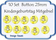 10 Set Button Giraffe Mitgebsel Kindergeburtstag von Jasuki auf DaWanda.com