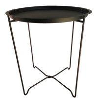 Handige bijzettafel van de Rebellenclub in de kleur zwart. Het tafeltje heeft een hoogte van 48 cm en een diameter van 42 cm. Het onderstel is makkelijk inklapbaar. Ook leuk als plantentafel!