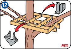 Learn how to build a treehouse for your kids with the easy-to-follow instructions from DIY 4 Beginners.