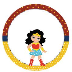 Mujer Maravilla Chibi: Wrappers y Toppers para Imprimir Gratis.
