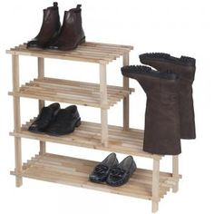 Duurzame Deal van 3 september 2014: Vurenhouten schoenenrek Bestel vandaag op www.duurzaamvoorminder.nl