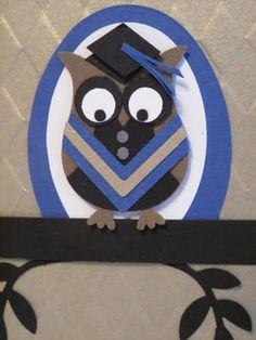 #owl builder punch #stampin up grad owl