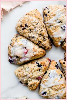 Deliciously flaky, crumbly, tender scones in ANY FLAVOR like chocolate chip scones, raspberry scones Raspberry Scones, Blueberry Scones, Oreo Dessert, Basic Scones, Irish Scones, Mini Scones, Mini Desserts, Baking Recipes, Scone Recipes