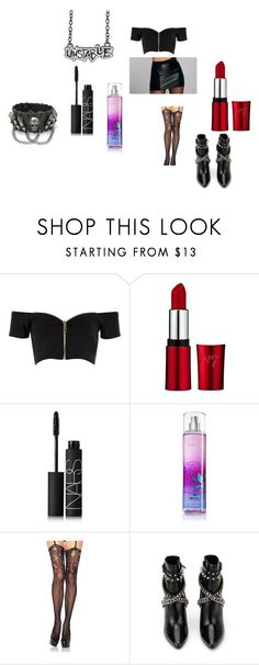 """""""Battleground"""" by catierollins on Polyvore featuring River Island, NARS Cosmetics, Leg Avenue and Yves Saint Laurent"""