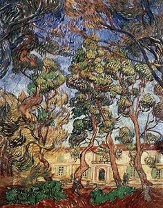 Trees in the Garden of Saint-Paul Hospital Poster Print by Vincent Van Gogh | Fruugo