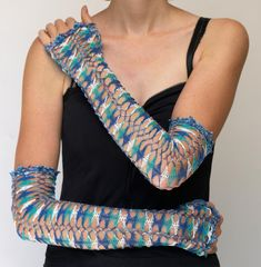 Hairpin Crochet Long Fingerless Gloves