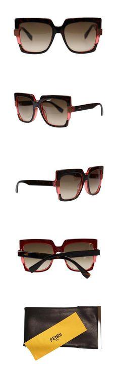 332d2dcde4 Fendi FF0062 MTV Havana Red Designer Sunglasses 54mm Authentic
