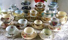 Garden of vintage teacups! - Southern Vintage Table