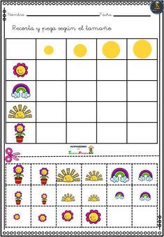 Actividades agrupamos por tamaños, trabajamos conceptos - Imagenes Educativas Montessori Math, Preschool Learning Activities, Preschool Worksheets, Preschool Activities, Kids Learning, Activities For Kids, Line Art Lesson, English Worksheets For Kids, Puzzles For Kids