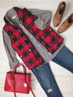 Elegant Buffalo Check Outfit For Women Look More Beautiful 150