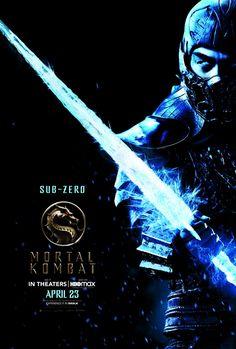 Sub Zero Mortal Kombat, Mortal Kombat Art, Ice Powers, Japanese Mask, Mortal Combat, Information Poster, Live Action Movie, Internet Movies, Game Character Design