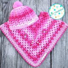 Toddler Skills for Personal Responsibility Crochet Baby Poncho, Newborn Crochet, Baby Knitting, Free Crochet, Knit Crochet, Crochet Hats, Baby Set, Baby Patterns, Crochet Patterns