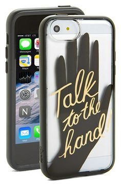 Sonix 'Talk to the Hand' Clear iPhone 5c Case available at #Nordstrom