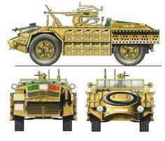 Veiocolo da ricognizione italiano, (Camionetta Sahariana) armata con mitragliera Breda da 20/65.
