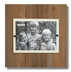 """Wood Frame-  Reclaimed wood Large Single with cream backboard.  11"""" x 11"""". 5 x 7 photo.  Hangs and Stands. FS-RC1-CRM57 by beachframeslld on Etsy"""