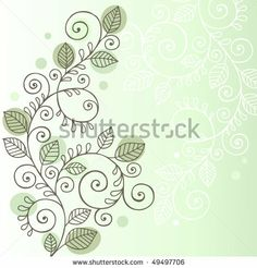 Swirling Vines and Leaves Design