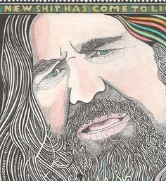 The Big Lebowski The Dude Watercolor Art Print by by Posterography