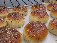 40 Minute Hamburger Buns. Soft, yummy! I made these the other night and they are great. I added powdered milk to my hot water, and cut the sugar and oil down to 3 T each. So good. Not buying hamburger or hot dog buns ever again.