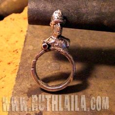 Silver Soldier Ring by Ruth Laila Steffensen. made using sand casting.