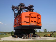 Big Brutus Electric Steam Shovel, West Mineral, Kansas. Big Brutus, at 160' tall and 11 million pounds, is the largest extant electric steam shovel in the world and was the second largest of its kind in operation during the 1960s and 1970s. The Bucyrus Erie 1850B model shovel was designated a Regional Historic Mechanical Engineering Landmark and is now on display as part of a mining museum exhibit.