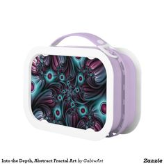 Into the Depth, Abstract Fractal Art Lunch Box