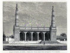 Antique print India / Wallajah Mosque in Triplicane 1869 Thiruvallikeni