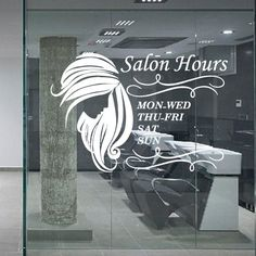 Hair Salon Sticker Beauty Decal Haircut Name Posters Time Hour Vinyl Wall Art Decals Decor Decoration Mural Salon Sticker Nails And More, Salon Art, Beauty Salon Interior, Salon Business, Hair And Beauty Salon, Salon Style, Hair Studio, Salon Design, Beauty Shop