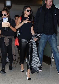 September 29: Selena arriving at LAX Airport in Los Angeles, California